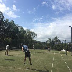 A spot of tennis in between showers. #nofilter #travel #instatravel #travelgram #australia #wanderlust #hashtag #sun #loveaustralia #worldtravelpics #explore #travelawesome #qld #queensland #islandlife #hamiltonisland #whitsundays #cruise