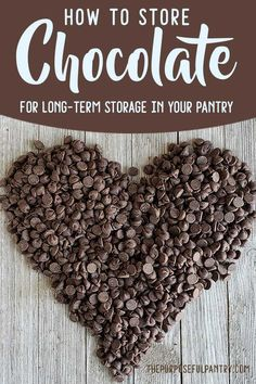"""Chocolate for long term storage? Learn how to store chocolate for your pantry and stave off the dreaded """"white bloom"""". Food Saver Vacuum Sealer, Cheap Candy, Emergency Food Storage, Long Term Food Storage, Cooking Chocolate, Bulk Food, Dehydrated Food, Save Money On Groceries, Grow Your Own Food"""