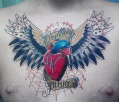 Real Heart Tattoo With Wings 30 lovely heart with wings tattoo designs ...