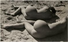 Raoul Hausmann, Two Nudes on a Beach [Hedwig Mankiewitz and Vera Broido], 1930