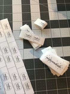 DIY Sew-In Labels — Meghan Makes Do Toy Labels, Sewing Labels, Fabric Labels, Quilt Labels, Single Crochet Stitch, Basic Crochet Stitches, Crochet Basics, How To Make Labels, How To Make Bows