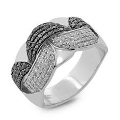 #Malakan #Jewelry - Platinum-Silver Black Velvet Diamond Ladies Ring 87993A3 #Fashion #FashionRings #WomensFashion