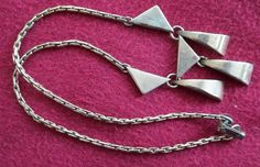vintage necklace geometric art deco style by lilacinspirations, $20.00