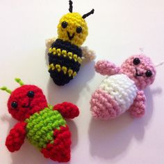 "Lucille the Pocket Bug - Free Amigurumi Pattern - PDF Format - Click ""download"" here: http://www.ravelry.com/patterns/library/lucille-the-pocket-bug"
