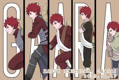 sabaku no gaara Anime Naruto, Naruto E Boruto, Kakashi Sensei, Naruto Cute, Naruto And Sasuke, Anime Guys, Manga Anime, Gaara Cosplay, Naruto Painting