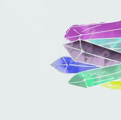 #crystals #illustration #design #watercolor