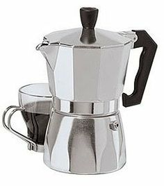 Oggi 6570 3 cup Stovetop Espresso Maker by Oggi. $13.69. Aluminum Body. 3 cups/6 oz. Capacity. Bakelite Handle. This Stovetop Espresso Machine 6570 by Oggi is the perfect addition to your home coffee making needs. With an Aluminum Body Construction, and a Bakelite Handle for cool to the touch serving, you will be making and serving rich espresso in no time. Espresso Maker has the capacity to hold 3 cups/6 ounces of fluid.