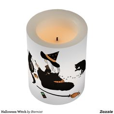 Halloween Witch Flameless Candle
