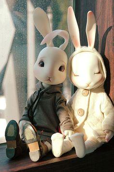 #bjd #dolls #rabbits