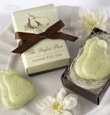 """Buy """"The Perfect Pair"""" Scented Pear Soap at Favors with Flair. We offer """"The Perfect Pair"""" Scented Pear Soap at the lowest price with Free Shippping. Wedding Favors And Gifts, Creative Wedding Favors, Wedding Shower Favors, Bridal Shower Gifts, Party Favors, Wedding Tokens, Bride Shower, Party Gifts, Soap Packing"""