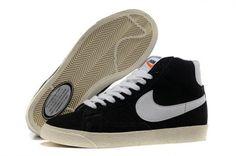 [FRimZc]-Pour Homme Chaussure Nike Blazer High Vintage Suede Noir/Blanc