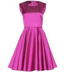 Giambattista Valli Satin Dress (43.935 RUB) ❤ liked on Polyvore featuring dresses, pink, satin cocktail dress, pink cocktail dress, pink dress, giambattista valli and satin dress