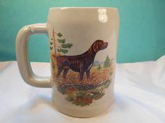 McCoy Pottery Mug-  Heavy Vintage Pottery Mug- Labrador Retriever Mug by McCoy Pottery USA by SETXTreasures on Etsy