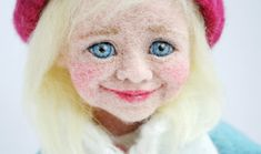beautiful needle felted face by Little Sue