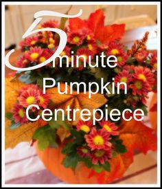 5+Minute+Pumpkin+Centerpieces