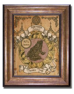 Harry Potter - Vintage Style Honeydukes Sweetshop Chocolate Frog Poster - 11x14 by MyChildishThings on Etsy https://www.etsy.com/listing/288991435/harry-potter-vintage-style-honeydukes