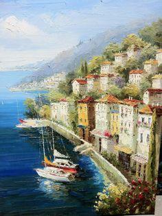 ORIGINAL OIL PAINTING  'Sorrento' Amalfi Coast Italy 36 by IntlArt, $165.00