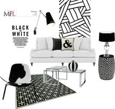 Cool  Black u White Top Set th March by gloriettequartet on Polyvore