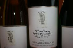 Happy 70th Birthday wine