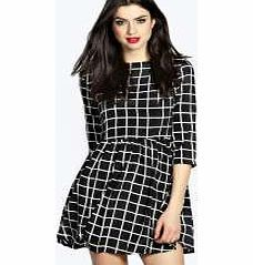 boohoo Yazz Large Monochrome Checked Skater Dress - No off-duty wardrobe is complete without a casual day dress. Basic bodycon dresses are always a winner and casual cami dresses a key piece for pairing with a polo neck , giving you that effortless eve http://www.comparestoreprices.co.uk/dresses/boohoo-yazz-large-monochrome-checked-skater-dress-.asp