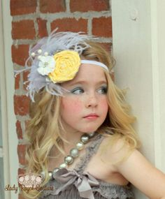 HER HIGHNESS Headband - Woman - Girl Headbands - Satin Flower and Rosette - M2M Persnickety Dress Clothing - Little Girl via Etsy