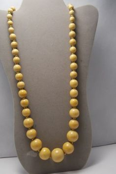 Kenneth Jay Lane  Wood Large Beads Gold Necklace in Jewelry & Watches, Vintage & Antique Jewelry, Costume, Designer, Signed, Necklaces & Pendants | eBay