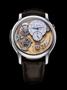 Romain Gauthier Logical One - white gold, white enamel dial - front
