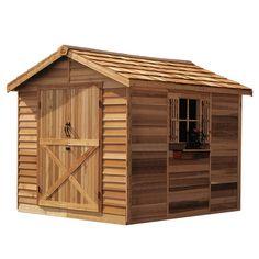 Cedar Shed Storage, Tool & Garden Shed Rancher Shed Backyard Storage, Garden Storage Shed, Outdoor Storage, Garden Sheds, Garden Tips, Backyard Sheds, Backyard Retreat, Garden Art, Wood Storage Sheds