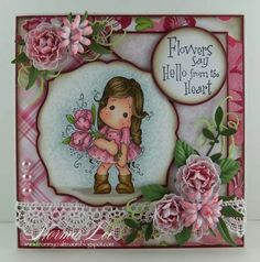 From My Craft Room: Flowers Say Hello - Magnolia-licious 'Pretty in Pink'
