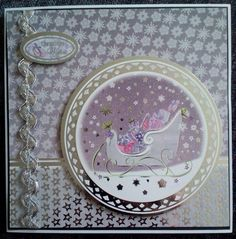 Pretty and classy, using Hunkydory's Festive Splendour range Handmade Christmas, Christmas Ideas, Hunky Dory, Reindeer, Festive, Card Ideas, Christmas Cards, Projects To Try, Card Making