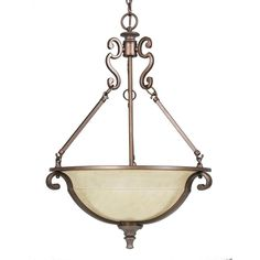 Home Decorators Collection Fairview 3-Light Heritage Bronze Bowl Pendant-14702 - The Home Depot