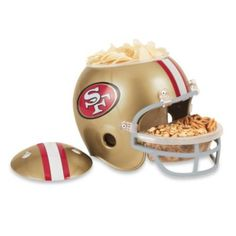 San Francisco 49ers Snack Helmet - BedBathandBeyond.com. Must have for watching 49er games at home!!!