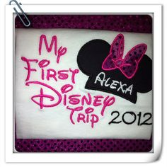 Personalized My First Trip to Disney Applique by ItSewMeBoutique, $20.00
