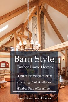 View floor plans, photos and more of Riverbend's custom timber frame barn homes. We showcase a variety of timber frame barn home floor plans. Barn Homes Floor Plans, House Floor Plans, Timber Frame Homes, Timber House, Custom Home Designs, Custom Homes, Classical Architecture, House Design, Flooring