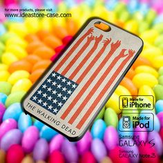 The Walking Dead USA Flag Case for iPhone by hamamerajarela, $13.99