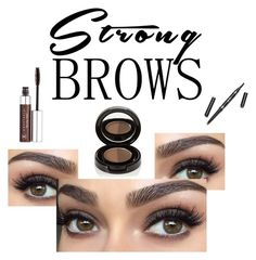 """""""Untitled #148"""" by marijaloveslm ❤ liked on Polyvore featuring beauty, Anastasia Beverly Hills, BeautyTrend, strongbrows and boldeyebrows"""