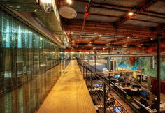 Check out the metal drapery inside Google's Venice, CA offices.