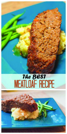 Moist, juicy, delicious meatloaf with some surprising sauce ingredients that might just make you reconsider your opinion of meatloaf in general! How To Cook Meatloaf, Good Meatloaf Recipe, Best Meatloaf, Beef Recipes, Cooking Recipes, Healthy Recipes, Healthy Options, Delicious Recipes, Traditional Meatloaf Recipes