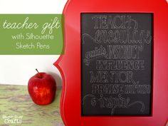 Teacher Gift with Silhouette Sketch Pens, a Silhouette Promotion & a Silhouette Portrait™ Giveaway - Ginger Snap Crafts