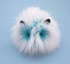Yeti the Aqua Blue and White Guinea Pig Stuffed Plush Toy
