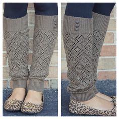 Loose Knit Leg Warmers Love this!! Just not with those shoes.