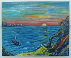 "Title: ""Baron's Cliff at Sundown""  8x10 inch oil painting...(on eBay... at auction right now)."