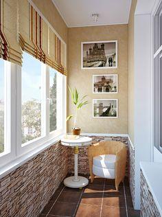 Для кабинета как нельзя лучше подошел балкон. В этом случае его не объединяли с комнатой, подчеркнув обособленность пространства для сосредоточенной работы.