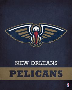 Parade your devotion for the New Orleans Pelicans with this Printed Canvas from ScoreArt. This classic print is optimal for the sports nut in your life. - New Orleans Pelicans Logo Pelicans Basketball, Basketball Art, Basketball Leagues, Basketball Pictures, Basketball Players, New Orleans Pelicans, Nba League, Nba Wallpapers, Nba Stars