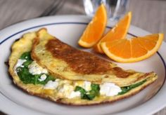 Spinach and Goat Cheese Omelet - Spinach and goat cheese are possibly one of the best flavor combos ever.