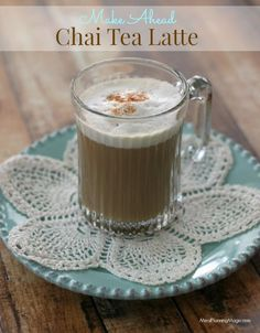 Simple Chai Tea Latte with Easy Frothed Milk | Delicious make-ahead recipe with easy foamed milk tip too | Recipe at MealPlanningMagic.com