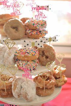 Modern-Kate-Spade-Inspired-Bridal-Shower-Donut-Tower