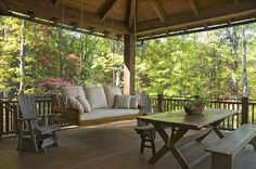 table and bench, floor - Have a look at Ipe or the decking, http://www.everlastinghardwoods.com/ipe-porch-decking/
