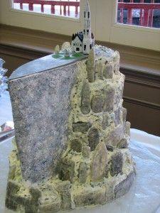 Minas Tirith, White City of Gondor, wedding cake from Lord of the Rings. Beautiful Cakes, Amazing Cakes, Pretty Cakes, Geek Wedding, Wedding Ideas, Fantasy Wedding, Best Cake Ever, Ring Cake, Funny Wedding Photos