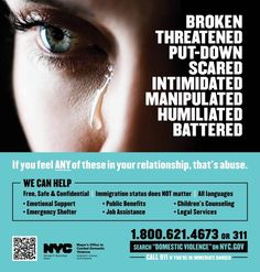 Ad encourages women in abusive relationships to seek help before situation becomes violent.